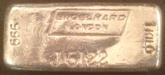 1 Kilogram (kg) Engelhard Silver Bar, London, Portrait, Obverse