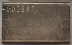 7 ounce (oz) Engelhard Silver Bar, Just 'E' logo, Reverse