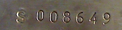 Serial number from genuine Engelhard 100 ounce silver bar