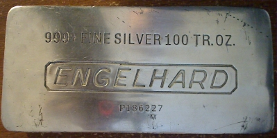 Fake Engelhard 100 Ounce Silver Bar, Made of Lead