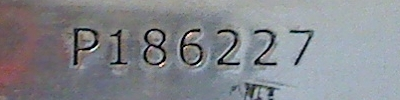 Serial number from fake, lead Engelhard 100 ounce silver bar